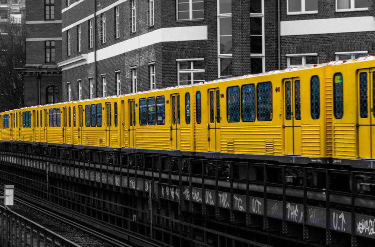 Berlin City Day Keycolor Kreuzberg Mendelssohn-bartholdy Parc Mode Of Transport No People Public Transportation Railway Track Transportation U-Bahn Yellow Discover Berlin