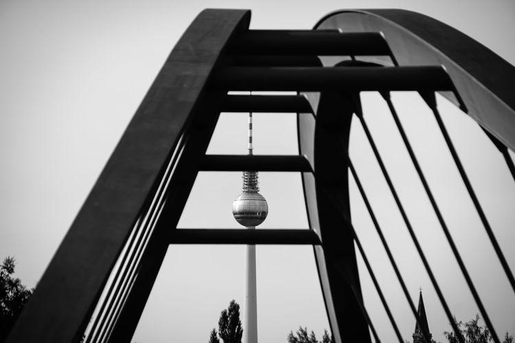 Fernsehturm Seen From Metallic Bridge Pattern