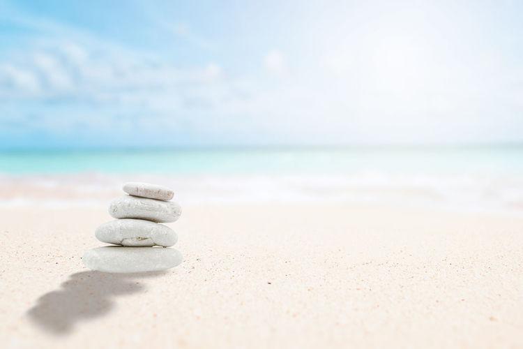 Zen stones on