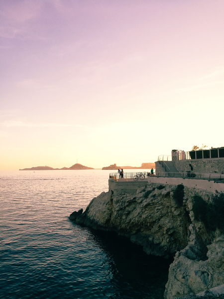 Sea Sunset Beach Horizon Over Water Outdoors Sky Water Blue Vacations City Summer Travel Destinations Kodakportra800 Scenics Crepuscular Light Crépuscule Crepusculo France🇫🇷 Vacations Clear Sky Landscape Marseille, France Sommergefühle