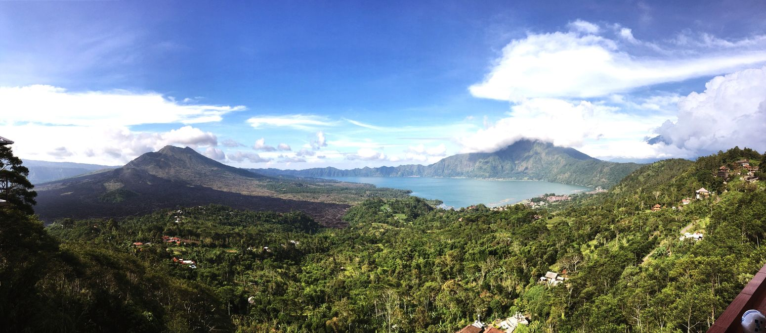 The Great Outdoors - 2016 EyeEm Awards Banjar Kedisan Bali, Indonesia Mt Batur Lake Batur Mountains Scenic View Panoramic Photography Idillic Nobody Colour Image Daytime Outdoors Elevated View Volcano Volcanic Landscape Jungle Clouds And Sky