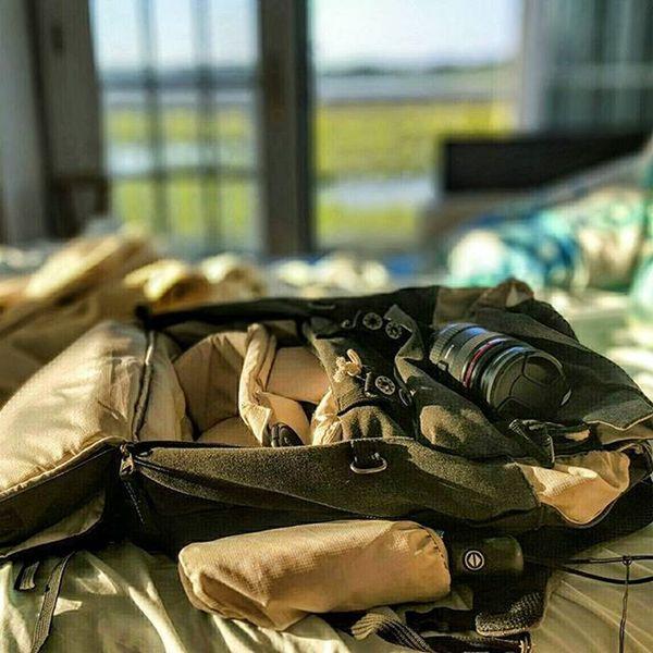 My Camera Pack after shooting Sunrise on Fireisland ny longisland
