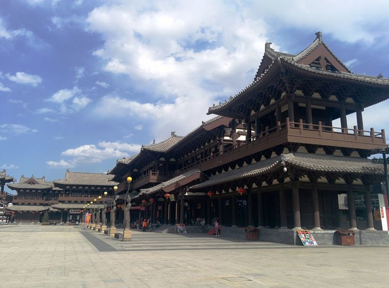 中国山西大同华严寺 Sky And Clouds Temple Chinese Datong City SHANXI DATONG Shanxi山西 CHINA中国