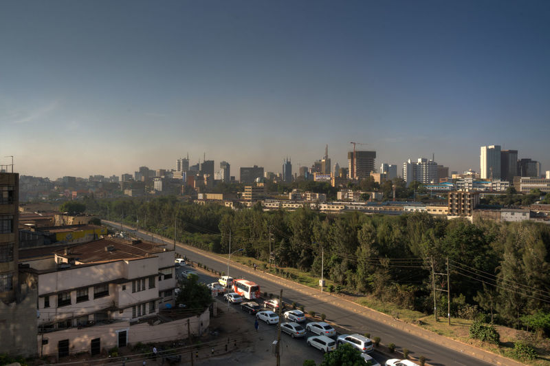 Downtown Nairobi Kenya Nairobi Travel City Building Exterior Transportation Motor Vehicle High Angle View Cityscape Road Urban Skyline Car
