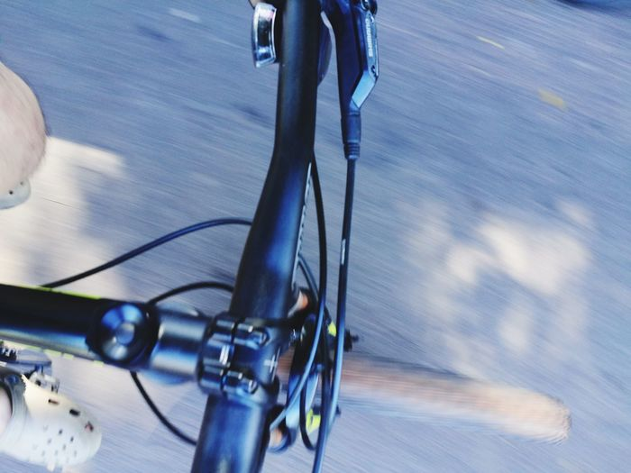 Low section of bicycle on cable
