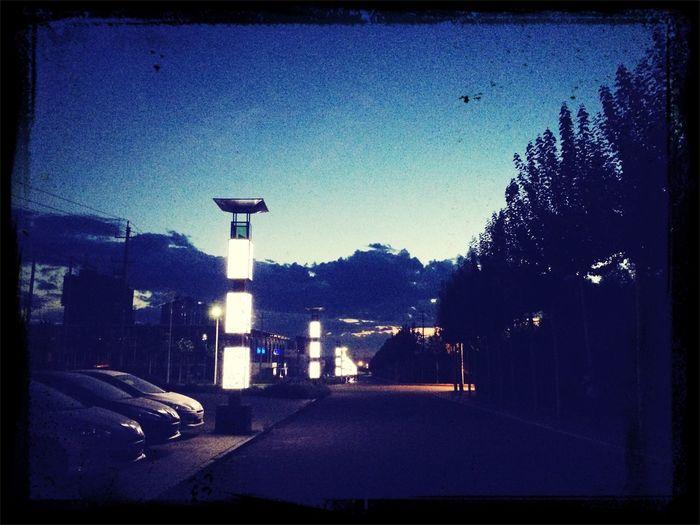 Night Car Night Lights Enjoying Life