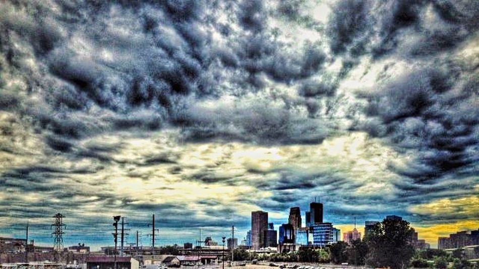 Sky And Clouds NoMPLS Minneapolis Urbanphotography Urban Landscape Cityscapes Stormy Weather Urban Photography Clouds And Sky Urbanscape