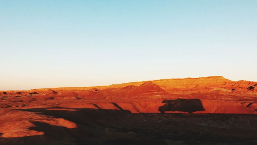 Voyaging in the desert Desert Arizona Hwy Travel Driving Landscape Sunset Nature Rocks Dust Cruising No People Lonely