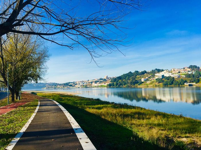 Douro River Rio Douro Avintes Water Tree Sky Plant Nature Day No People Beauty In Nature Reflection Direction Scenics - Nature Tranquility Outdoors Blue My Best Photo