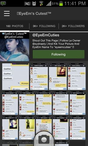 i dont really give shoutouts on EyeEm but follow @EyeEmCuties !