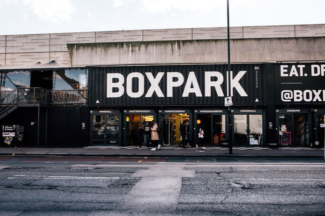 Architecture Boxpark Boxparkshoreditch Building Exterior Built Structure Container Container Stores London London Lifestyle London Trip London_only Outdoors Pop Up Store Shoreditch Shoreditch London Shoreditch, London Store Street Text Visit London EyeEm LOST IN London Postcode Postcards