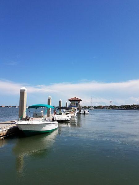 Water Nautical Vessel Hanging Out Nature Seashore Photography Beach Life Docks Marina St Augustine, FL Fishing Boat Power Boats