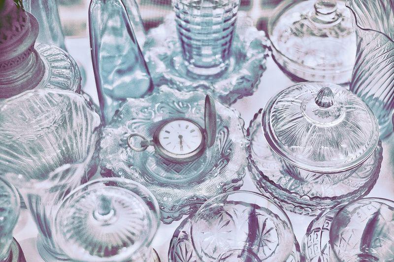 Full frame shot of glass table