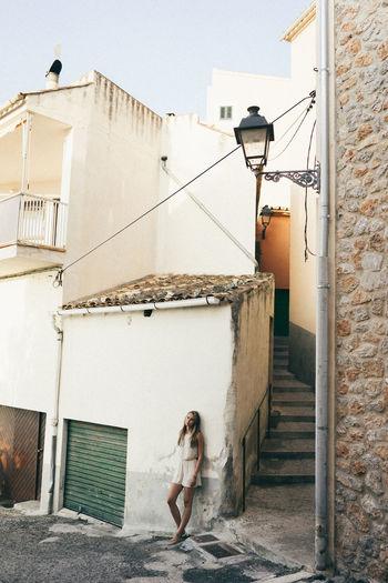 Mallorca Mediterranean  Architecture Building Exterior Built Structure Day Girl Old Buildings One Person Outdoors Real People Village