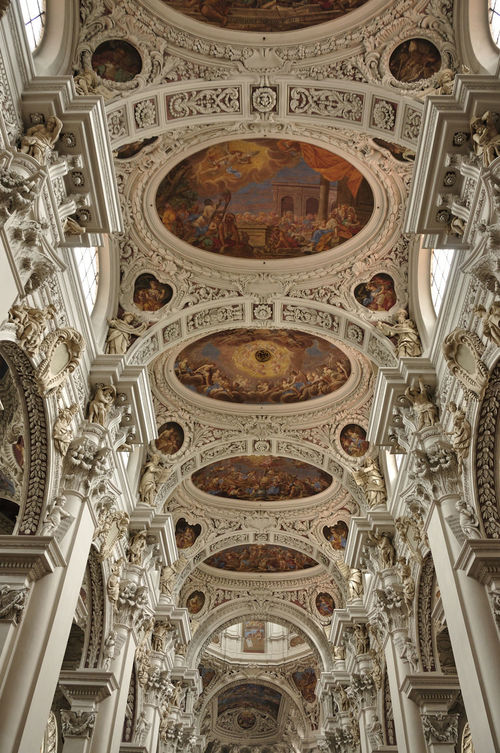 Architectural Design Architectural Feature Architecture Built Structure Ceiling Close-up Cupola Day Dom St. Stephan Dome Indoors  Low Angle View No People Ornate Travel Destinations