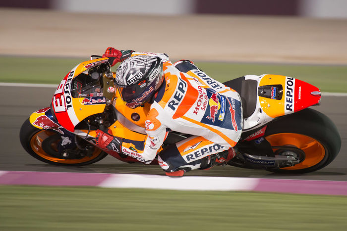MotoGP final preseason testing under way at Losail International Circuit LosailCircuit Marcmarquez Motogp MotoGP2016 Motorcycles Motorsportsf1 Preseason Qatar Racing Test Winter