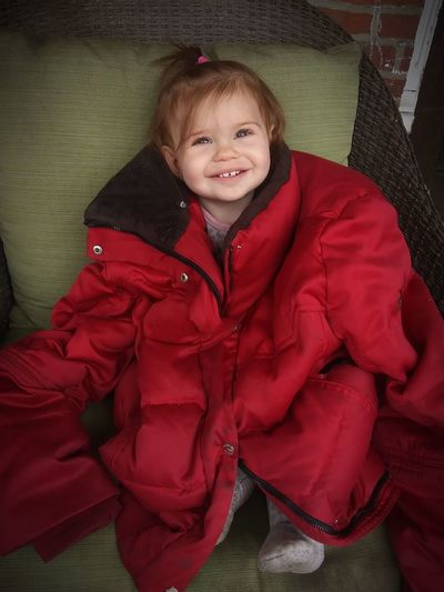 bright eyes Beauty Beautiful Beautiful Child Beautiful Girl Granddaughter Red Red Coat Red Color Ginger Beautiful Eyes Beautiful Smile Adorable Little Girl Love Love Her My Life My Best Photo Child Portrait Smiling Childhood Happiness Cheerful Red Girls Looking At Camera Winter Coat