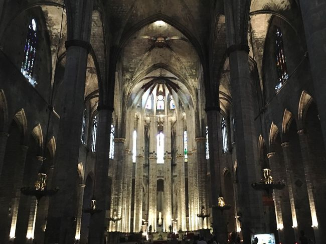 The glorious Catedral del Mar Religion Place Of Worship Architecture Window History Indoors  Architectural Column No People Day Cathedral Sea Breathtaking Wisedom Architecture EyeEmNewHere