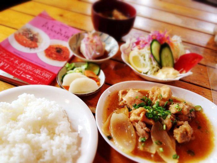 牧花亭さんの鶏もも肉の生姜焼き定食900円→ランパスで540円♪ Lunchpassport