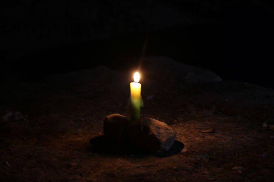 Bougie Lumière Candle Light Catacombes De Paris Catacombes Catacombs