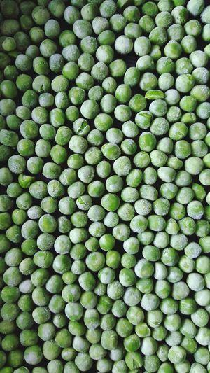 Detail shot of green peas