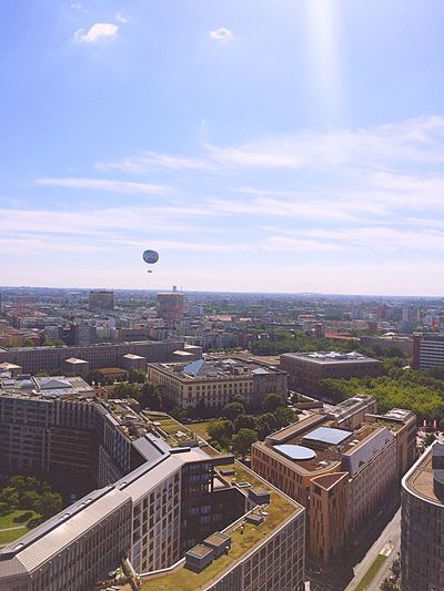 Battle Of The Cities Berlin City Building Exterior Sky Built Structure Architecture Cityscape Cloud - Sky Hot Air Balloon Aerial View No People Outdoors