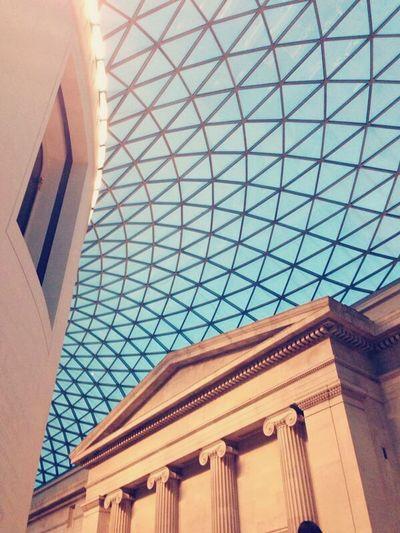 Vanishing Point British Museum Museum Glass Taking Photos Walking Around Traveling