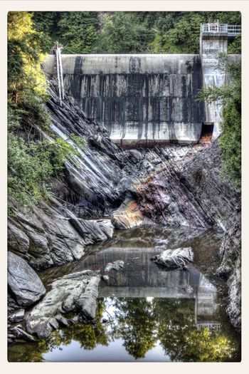 HDR Mountain Forest Dam