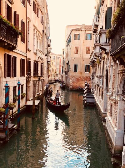 Gondola - Traditional Boat Venice Venice, Italy Nautical Vessel Mode Of Transportation Transportation Water Building Exterior Architecture Canal Built Structure Waterfront Gondola - Traditional Boat Nature One Person Travel Destinations Sky Gondolier Building Reflection City Travel Outdoors