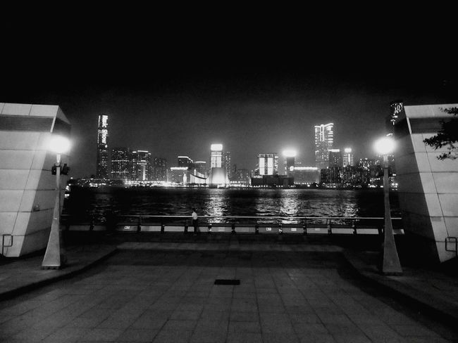 Hongkongskyline Night Illuminated Outdoors Nightlife No People Hongkongphotography Hongkongstreet HongKong Hongkongcity Hongkongcollection Hongkonglife Street Photography Hong Kong City The Street Photographer - 2017 EyeEm Awards Victoria Harbour Urban Skyline Hongkong Black&white Blackandwhite Black And White B&w Street Photography Fortheloveofblackandwhite Blackandwhite Photography