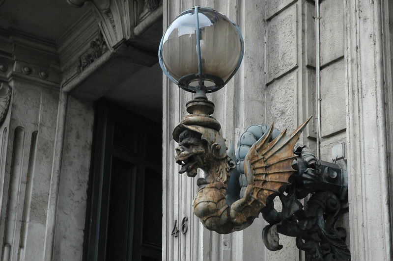 Dragon Statue Art And Craft Building Exterior Design Lamp Lamp Design Low Angle View No People Sculpture Statue