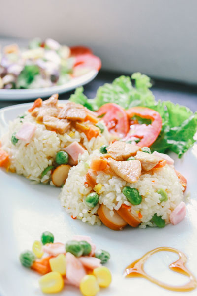 Food Food And Drink Healthy Eating Freshness Vegetable Ready-to-eat Salad Meal Rice Fire Rice Asian Food