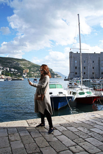 Dubrovnik,autumn details,Adriatic coast,Croatia,Europe,1 Adriatic Coast Adriatic Sea Architecture Autumn Culture Day Dubrovnik, Croatia Eu Europe Harbor History Korean Tourists One Person Outdoors Porporela Selfie Tourist Destination Young Adult