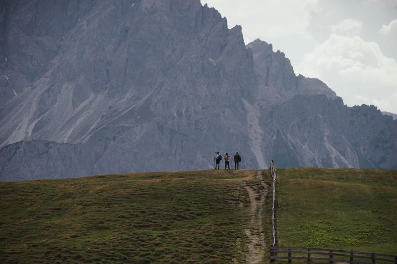 Mountain Group Of People Men Nature Environment Landscape Travel Scenics - Nature Leisure Activity Beauty In Nature Travel Destinations Real People Tourism People Land Field Sky Lifestyles Plant Adult