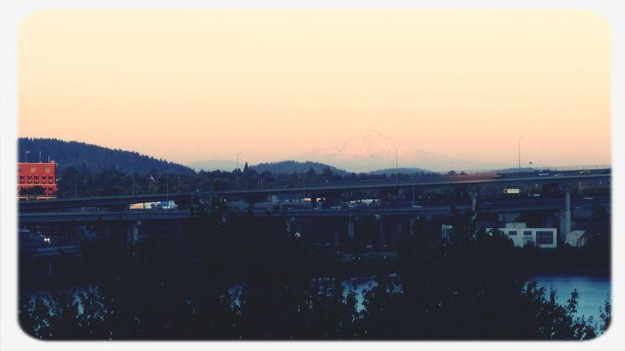 Loving the sunset on Mt Hood