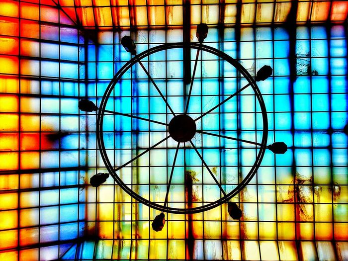 colours of life Wheeloflife Architecture Colors Colour Of Life Magic Roof Window Chandelier Blue Yellow Red Orange Color Enjoying Life Travel Destinations Life Travel Photography Up Above Happiness Life Lifestyles Sun Rainbow Rainbow Colors Radient Pattern No People Close-up Day Backgrounds EyeEm Ready
