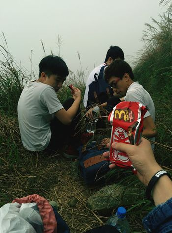Hiking in HK: Break time Kitkat Breaktime Rest Hiking HongKong Popular Photos