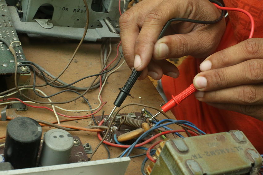 Repair and diagnostic electronics device. Board Business Business Finance And Industry Chip Diagnostic Digitalart  Electronic Engineering Equipments Industry Maintenance Multimeter Oscilloscope Radio Resistor Semiconductor Skill  Skill, Skillfulness, Ability, Capability, Competence, Art, Talent, Flair, Artistry, Dexterity, Craftsmanship, Expertise, Proficiency Solder Technician Technology Television Tester Transistor Vocational