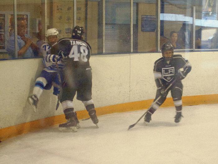 Big Goof Big Vs. Small Boards Hockey Game Jr. Kings Love Hockey Pasadena Maple Leafs RISK Rub Out