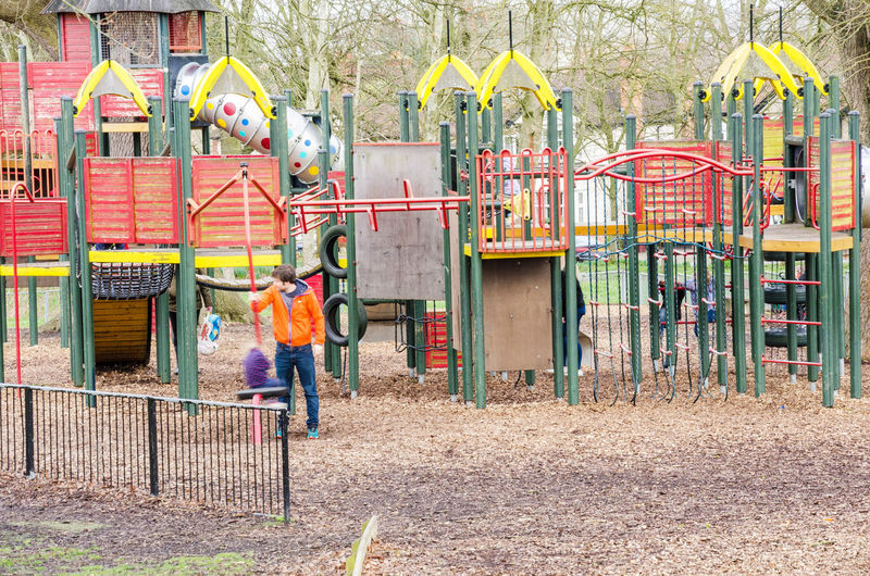 Looking at the children's playground in Prospect Park, Reading, UK. Active Childhood Climbing Frame Climbing Frames Day Exercise Fun Out Outdoor Photography Outdoors Park Playground