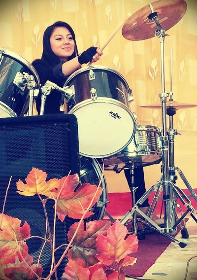 In love with Drums! Angie Arts Culture And Entertainment Beauty Drumshow Love ♥ Music Musical Instrument Only Women