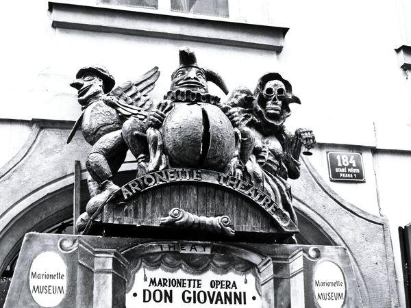 Don Giovanni  Marionette Theatre Marionette Museum Marionette Opera Prague Praha Old Town Stare Mesto Black & White Street Photography Entrance Portal