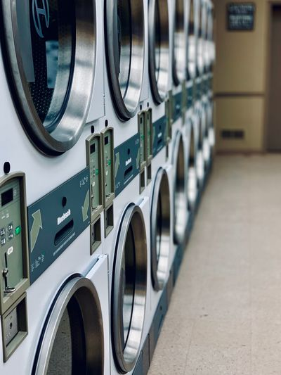Washing machines in room