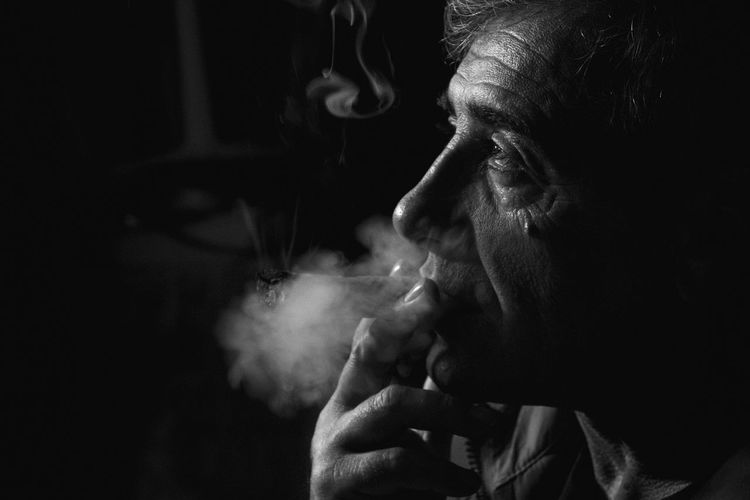 Oldman Melancholic Memories Photography Blackandwhite Bnw_captures Bnwphotography Father Smoker Cuban Cigar Indoors  Close-up Relaxing Time Portrait Of A Man  Portait Photography No Filter EyeEmNewHere Welcome To Black