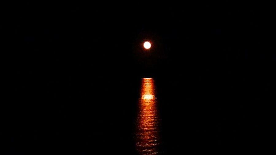 Full Moon Night  Moonlit Night Moon At Sea Cruise Views Moon Reflected In Water