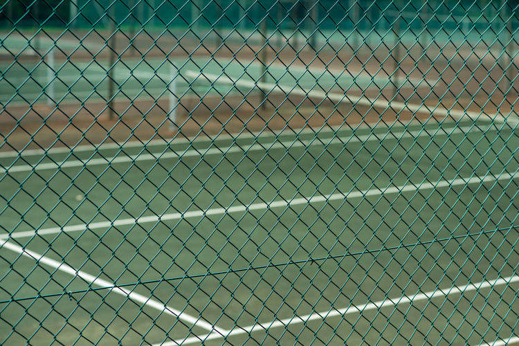 Tenis courts Fence Backgrounds Chainlink Fence Full Frame Barrier Boundary Sport Outdoors Focus On Foreground Close-up Safety Day Protection No People Pattern Tennis Court