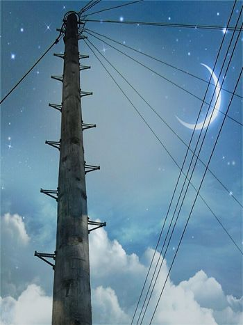 Found On The Roll Telegraph Pole Night Sky Edited Moon Stars Hanging Out Taking Photos Check This Out Hello World Relaxing Enjoying Life Space Today's Hot Look Amazing Modern Art Magical Beautiful