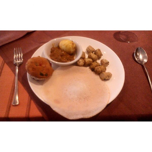 Who can resist breakfast if this is the spread you wake up to :D Egg Appam Muffins Sausage