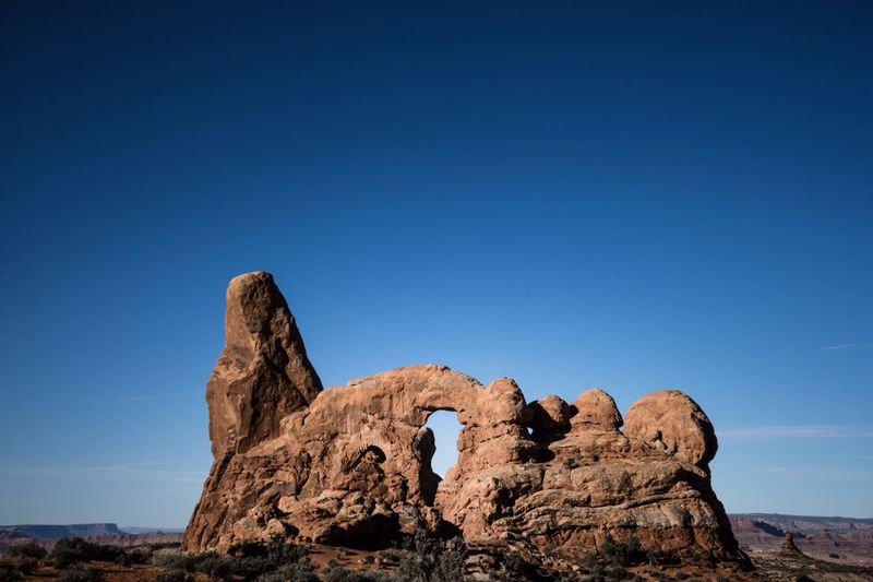 Rock - Object Rock Formation Geology Nature Beauty In Nature Clear Sky No People Outdoors Natural Arch Arid Climate Physical Geography