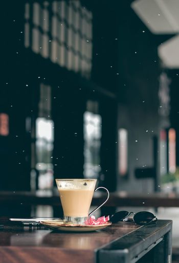 Every editors drug. ☕ Drink Drinking Glass Cafe Table Wireless Technology Close-up Food And Drink Cappuccino Saucer